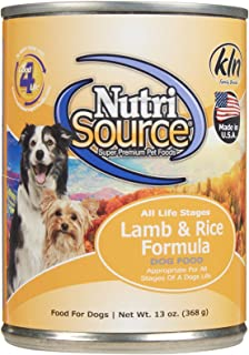 TuffyS Pet Food 131302 Tuffy Nutrisource 12-Pack Lamb And Rice Canned Food For Dogs