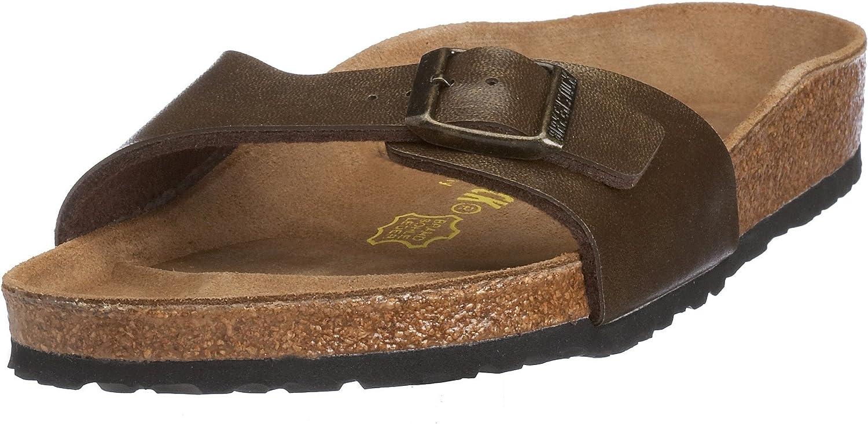 Birkenstock Womens depot Madrid Birko-Flor Slip Bro Footbed Omaha Mall On Sandals
