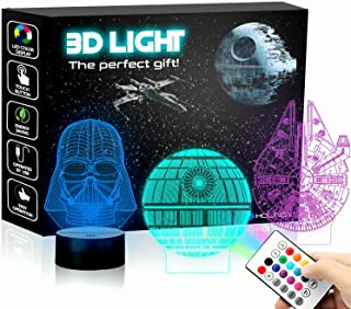 Holinox Star Wars Lamp Death Star 3D Light Awesome Gift for Star Wars Fans 75159 (MT471) Starwars Gifts
