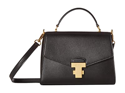 Tory Burch Juliette Small Top-Handle Satchel (Black) Satchel Handbags
