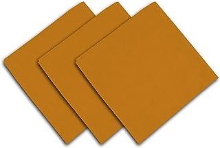 Soleil d'ocre Serviettes de Table en Tissu, Jaune, 45 x 45 cm