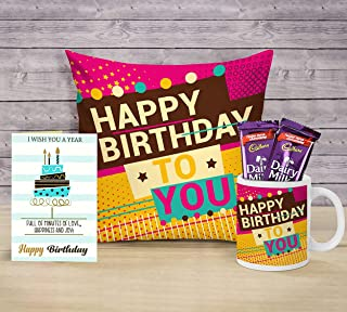 TIED RIBBONS Birthday Gifts Combo for Girls Boys Boyfriend Girlfriend Friend (Coffee Mug, Cushion Cover with Filler (12 X ...