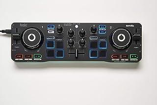 comprar comparacion Hercules DJControl Starlight - Controlador de DJ USB portátil 2 Pistas con 8 Pads/Tarjeta de Sonido para PC/Mac, Multicolor