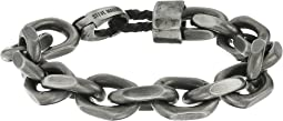 "Stainless Steel 8"" Facet Rolo Chain Bracelet"