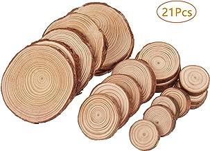 50Pcs Rodajas de Madera Natural 6-7 cm Discos de Madera Rebanada C/írculos sin acabado Decoracion Navide/ña con agujero y 20M cuerda para Manualidades