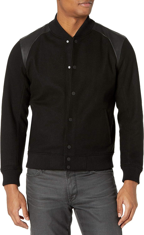 PAIGE Men's Crenshaw Varsity Wool Jacket