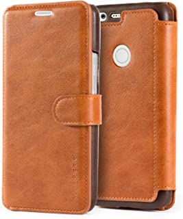 Google Pixel XL Case - PU Leather Flip Case Cover with Wallet for Google Pixel XL [5.5 Inch] 2016 Model,Cognac Brown