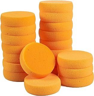 Paquete de 20 esponjas redondas sintéticas de 8,9 x 2,5 x 8