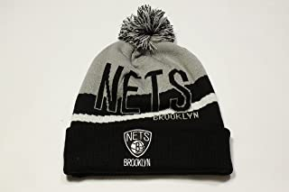 Adidas Cuffed Knit w/ Pom Beanie Brooklyn Nets!!