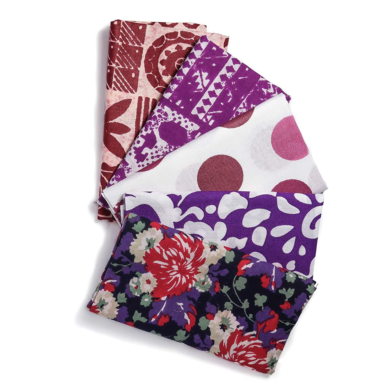 Bachaaya | Freedom Squares | Fat Quarters 5 Piece Bundle | Cotton Fabric for Quilting, Sewing, Crafting, Bedding | 18 Inches X 21 Inches (46 X 53 Centimeters)