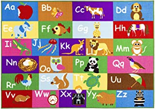 Home Must Haves Alphabet Educational/Road Map Reversible Fun Kids Area Rug (8' x 10'), 6'8