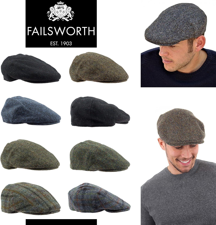 Failsworth Casquette Plate en Tweed Harris