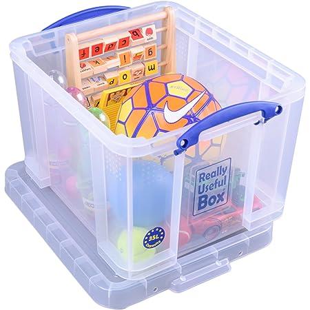 Really Useful 3C Boîte de Rangement en Plastique Facilement Empilable 35 litres - 480 x 390 x 310 mm, Transparent