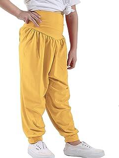 ESHOO Girls Bowknot High Waist Stripe Pants Loose Trousers