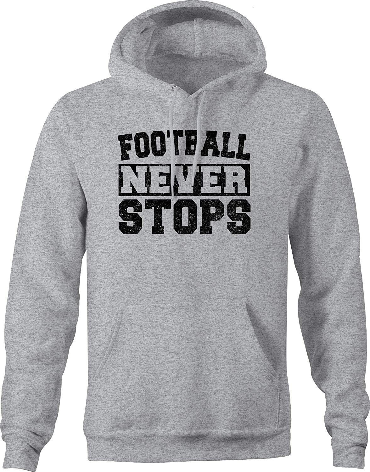 VIL Over item handling ☆ Football Never 67% OFF of fixed price Stops High Hoodie School Font for Jersey