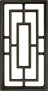 Nuvo Iron Rectangle Decorative Insert for Fencing, Gates, Doors, Home, Garden 17