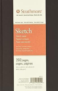 "Strathmore Sketchbook 400 Series Hardbound Art Journal Sketch, 5.5""8"", White, 96 Sheets 5-1/2 x 8-1/2 Inches"