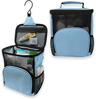 TERRA HOME Portable Shower Caddy - Large Capacity, Quick Dry, Mildew Resistant with Metal Hook - Hanging Shower Bag - Wate...