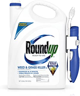 RoundUp 5200210 Ready-to-Use Weed & Grass III Wand Weed Killer, 1.33 GAL, Clear