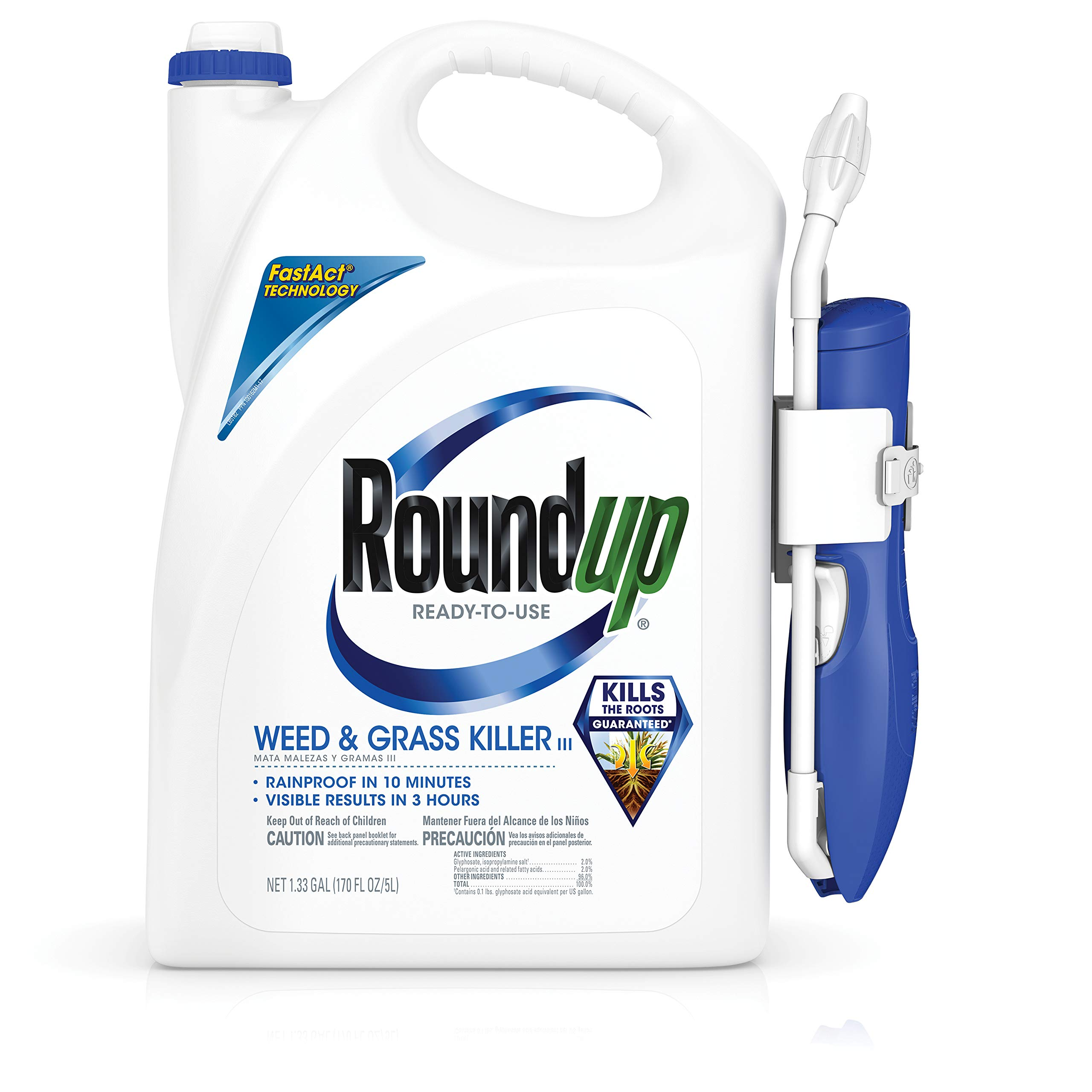 RoundUp 5200210 Ready-to-Use Weed & Grass Killer III with Comfort Wand, 1.33 GAL