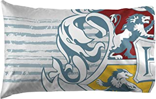 Jay Franco Harry Potter Witchcraft & Wizardry 1 Pack Pillowcase, Gray