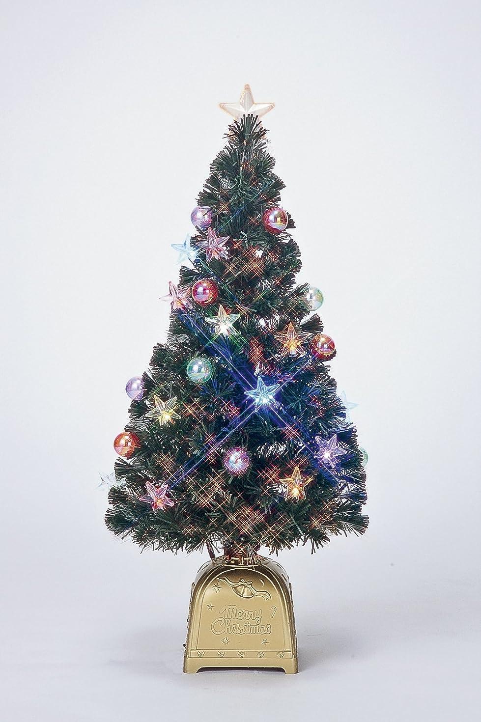 報酬手荷物広告主フローレックス(FLOREX) クリスマスツリー ファンタジーボール ニュークリスタルスター グリーンファイバーツリー 高さ90cm FX-5262