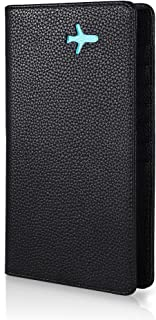 Passport wallet - All in one travel wallet (Black - Turquoise)