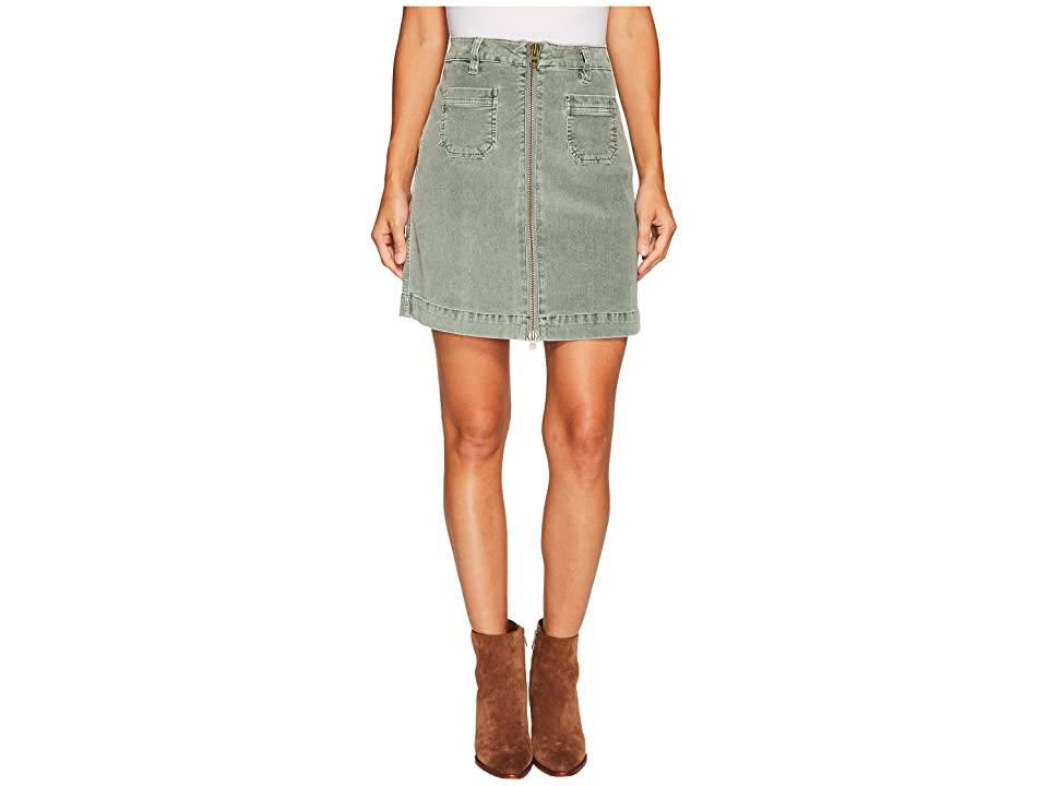 Jag Jeans McCamey Zip Front Skirt in Refined Corduroy (Light Willow) Women