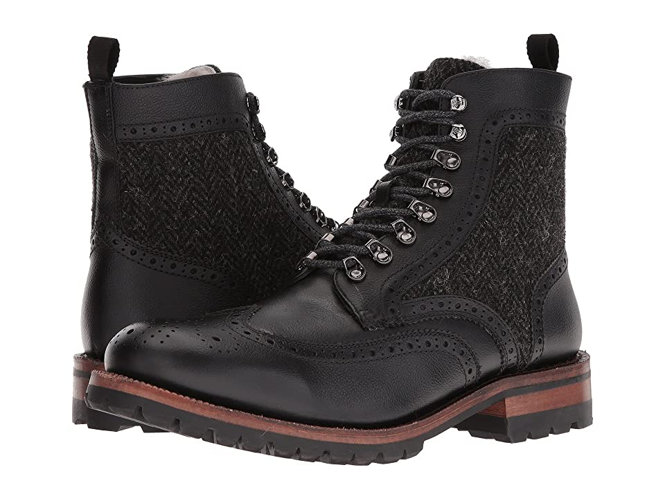 Frye George Adirondack (Black WP Scotchgrain/Shearling/Tweed) Men