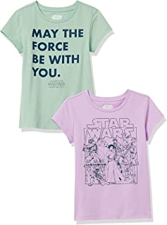 Amazon Essentials Disney Star Wars Marvel Princess-Camiseta de Manga Corta Niñas