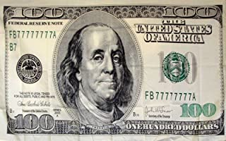 ALBATROS 3 ft x 5 ft 100 One Hundred Dollar Bill Benjamin Franklin Flag Brass Grommets for Home and Parades, Official Party, All Weather Indoors Outdoors