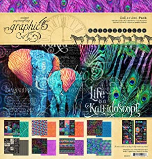 Graphic 45 4501856 Kaleidoscope 12x12 Collection Pack Craft Paper, Multi