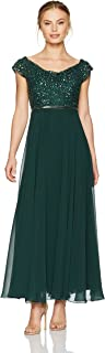 Women's Beaded Empire Waist Gown Petite