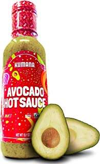 Keto Avocado Hot Sauce by Kumana. A Vibrant Hot Sauce made with Ripe Avocados, Mango and Habanero Peppers. Ketogenic & Pal...