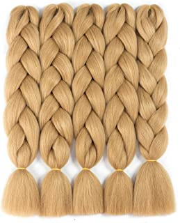 golden blonde braiding hair