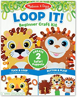 Melissa & Doug Loop It! Safari Puppets Beginner Craft Kit