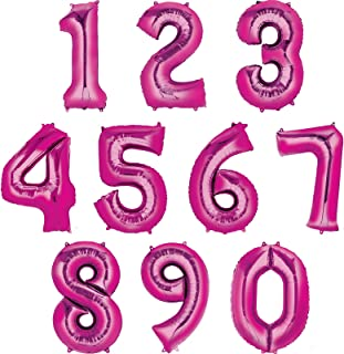 Anagram Balloons Foil Balloon Number 4 - Pink, 34