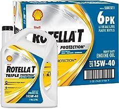 Rotella T4 15w40 Heavy Duty Motor Oil - 1 Gallon Bottles - 6 Pack