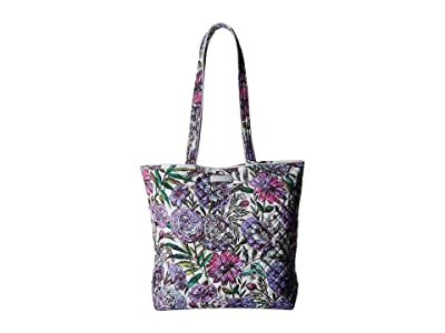 Vera Bradley Iconic Tote Bag (Lavender Meadow) Tote Handbags
