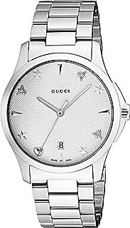 Gucci - Reloj Análogo clásico para Unisex de Cuarzo con Correa en Acero Inoxidable YA1264028