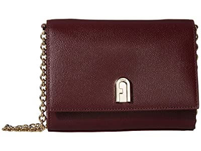 Furla 1927 Mini Crossbody 18 (Burgundy) Handbags