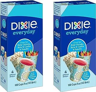 Dixie Bath Cups, Prints - 5 oz - 100 ct - 2 pk