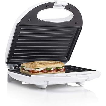 Tristar SA-3050 Sandwichera grill con placas de parrilla, tamaño compacto con compartimento para cable, potencia de 750 W, recubrimiento antiadherente