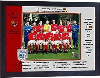 S&E DESING England Team World Cup 1966 Hurst Charlton no Signed Printed Photo Poster Framed