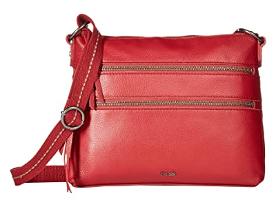 The Sak Reseda Leather Crossbody (Scarlet) Cross Body Handbags