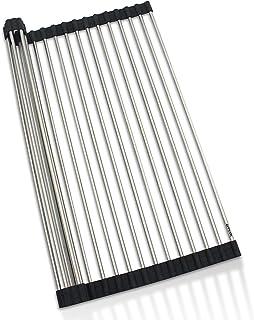 roll up Dish Drying Rack (Black, Round)