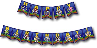 A2ZPlusmore Sonic The Hedgehog Birthday Party Bunting Banner, Garland, Flag Pennants