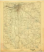 YellowMaps Petersburg VA topo map, 1:62500 Scale, 15 X 15 Minute, Historical, 1894, Updated 1898, 19.9 x 16.4 in
