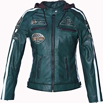 Urban Leather '58 LADIES' Giacca Moto Donna in Pelle con