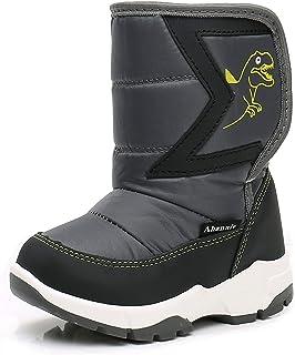 حذاء برقبة طويلة شتوية معزولة دافئة للأطفال الأولاد والبنات من Ahannie
